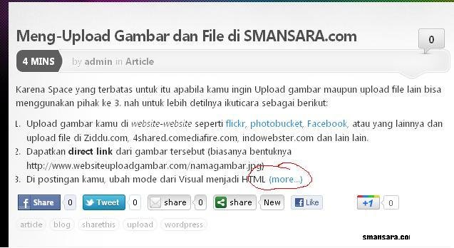 Membuat Readmore/more di Post Blog
